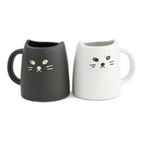 Miya: Cat Mug Black & White Set Of 2, at 25% off!