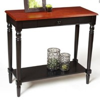 Convenience Concepts French Country Foyer Table with Drawer and Shelf