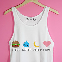 Food Water Sleep Love Crop Tank Top | Yotta Kilo