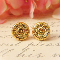 FREE EARRINGS Vintage Rose Flower Studs by Reneeloveandco