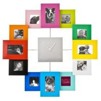 Amazon.com: Present Time Photo Frame Clock Family Time, Multicolor: Home & Kitchen