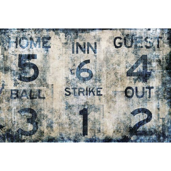 Baseball scoreboard wall mural from pbteen for Baseball scoreboard wall mural