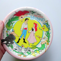 Vintage The Little Mermaid NEW Party Plates 1989