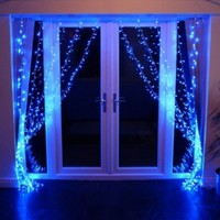 TEXO Set of 96 LED Curtain Fairy String lights (Blue):Amazon:Home & Kitchen