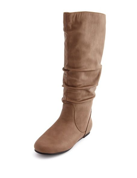 flat mid calf slouch boot from russe