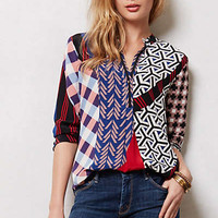 Anthropologie - Pattern Slide Blouse