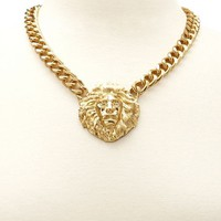 Lion Head Short Necklace: Charlotte Russe