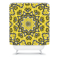 DENY Designs Home Accessories | Lisa Argyropoulos Retroscopic In Lemon Shower Curtain