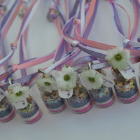Set of 10 Fairy Party Favor Necklace Pink by thesetinytreasures