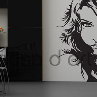 Silhouettes - Girl Face - Wall Decals , Home WallArt Decals