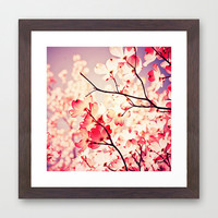 Dialogue With the Sky - lavender / pink nursery wall art / flower photography / tree branch photo / vibrant colorful / dorm decor / girly