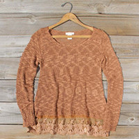 North Forest Knit Thermal in Rust, Cozy Women's Sweaters