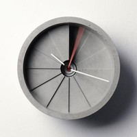 4th dimension concrete clock  - MollaSpace.com