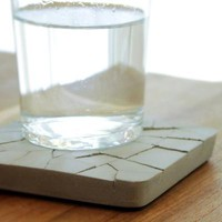 Concrete Water Absorbent Coaster  - MollaSpace.com