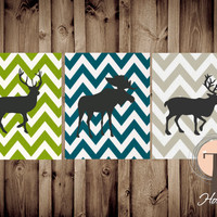 SHOP SPECIAL, Instant Download, Moose, Elk Deer Prints, Chevron, Hunting Art, Boys Art