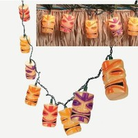 Tiki Head Light String Set - Luau Party Patio Lights