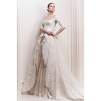 Vintage Lace princess Half Sleeve Bow Wedding Dresses