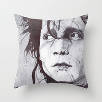 Edward Scissorhands   Throw Pillow by DeMoose
