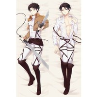 "Japan Anime Attack on Titan Levi Rivaille Decorative Hugging Body Pillow Cover Case Double-sided 59.06""x19.69"""