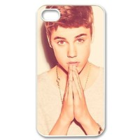 Custombox Justin Bieber iphone 4/4s Case Plastic Hard Phone case-iPhone 4-DF00092:Amazon:Cell Phones & Accessories