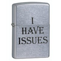 Amazon.com: Zippo I Have Issues Street Chrome Pocket Lighter: Sports & Outdoors