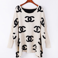 A 082706 c Retro loose bat sleeve sweater