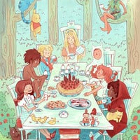 The Great Kid Lit Tea Party 8x12 poster print by theGorgonist