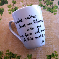 The Lord of the Rings Mug  Arwen quote by litsakiv on Etsy