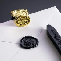 Skull and Crossbones Wax Seal Set with Black Wax, Freund Mayer - Barnes & Noble