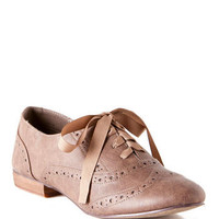 Ringo Oxford Flat in Taupe