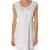 SURFSTITCH - WOMENS - DRESSES - CASUAL DRESSES - QUIKSILVER WHITE WATER DRESS - BRIGHT WHITE