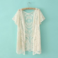 A 01703 s Lace cardigan shirt
