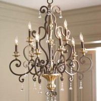 "Nine-Light ""Heirloom"" Chandelier?-?Horchow"
