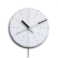 Ordinary Purposes Clock - Black/White