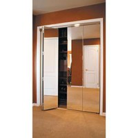 Impact Plus, Beveled Edge Mirror Solid Core Chrome MDF Interior Bifold Closet Door, BMP3423068C at The Home Depot - Mobile