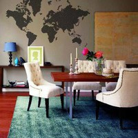 World Map wall sticker Hu2 Design