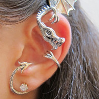 Silver Elfin Dragon Wrap by martymagic on Etsy