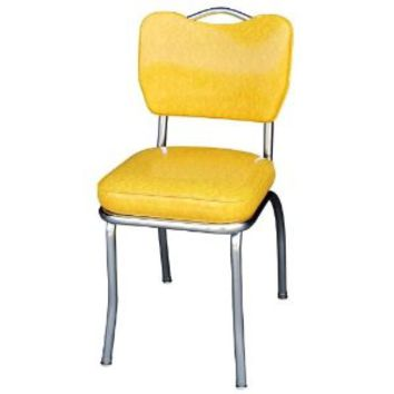 Cracked Ice Yellow Handle Back Retro Chair