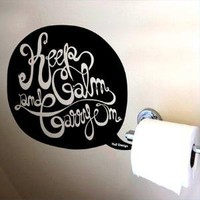Wall sticker Keep Calm And Carry On wall art decals original graphic stickers idea designed by Hu2 Design