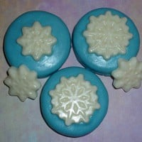 Chocolate Covered Oreo With Snowflakes Set Of 12 | Luulla