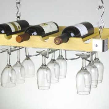 Wine Bottle & Glass Ceiling Wall Mount $67.50