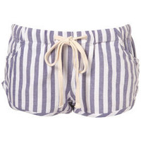 Purple Stripe PJ Shorts