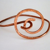 copper swirl bracelet by WillowRockDesigns on Etsy