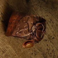 Copper cuff bracelet by WillowRockDesigns on Etsy
