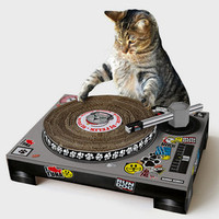 DJ Cat Scratch Turntable | Shop Pet Gifts Now | fredflare.com