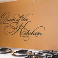 Queen of the Kitchen Wall Decal Quote - Decor for the female chef - Wall Decals | My Wall Decal Shop | Decorating Ideas & Wall Stickers