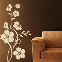 Jade Flower Wall Sticker - Beautiful Floral Decor - Wall Decals | My Wall Decal Shop | Decorating Ideas &amp; Wall Stickers