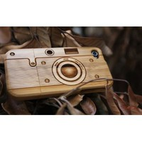 Amazon.com: [MADE FROM RAW WOOD] Bamboo Case for iPhone 4/4S (Camera): Cell Phones & Accessories