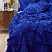 Rivulets Quilt, Cobalt - Anthropologie.com