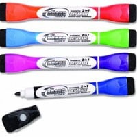 Board Dudes Double-Sided Magnetic Dry Erase Markers, Assorted Colors 4-Pack (14002UA-24):Amazon:Office Products